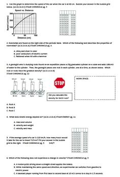 8th grade science staar review worksheets