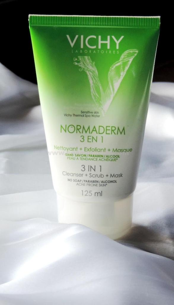 vichy normaderm 3 in 1 cleanser scrub mask review
